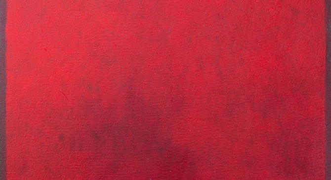 Red Fen: Original Oil Painting on Canvas: 40cm x 75cm x 4cm petercorr.com