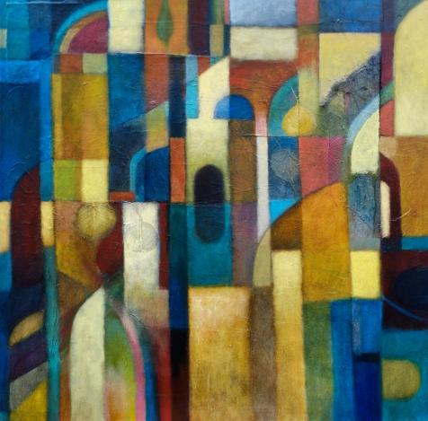 'Optical Mantra' 80 x 80 cm
