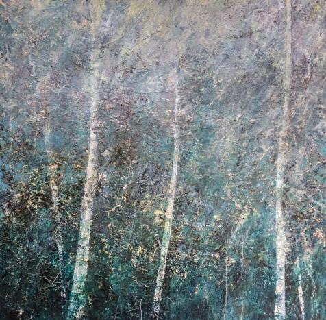 'Toward Heaven' 80 x 80 cm