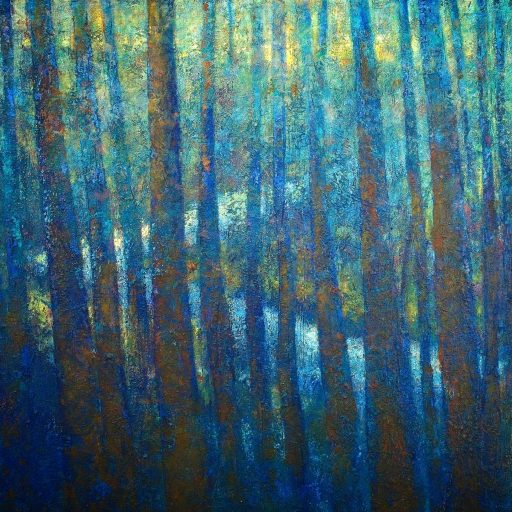 petercorr.com landscape trees new forest abstract abstraction painting artist art