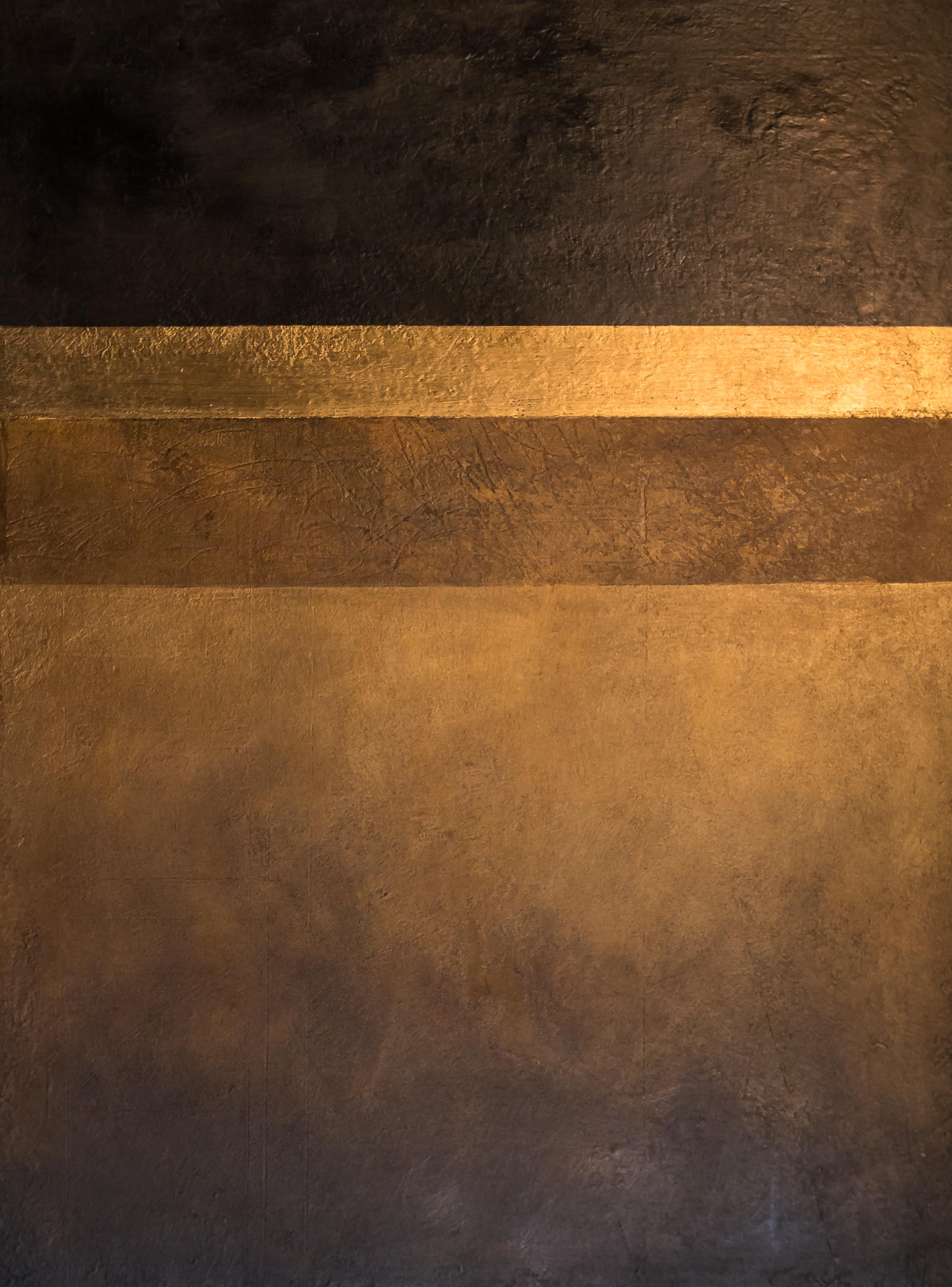contemporary gold landscape painting abstract peter corr