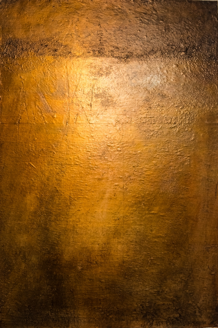 contemporary gold landscape painting abstract @petercorr.com