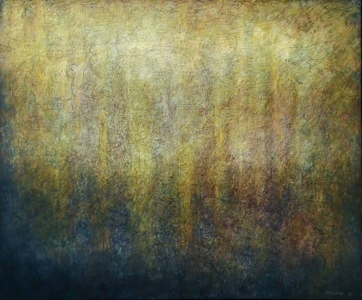 Abstract Landscape painting on canvas