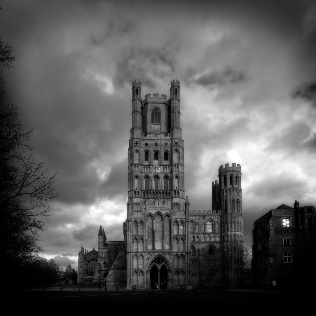 Ely Cathedral, dramatic sky