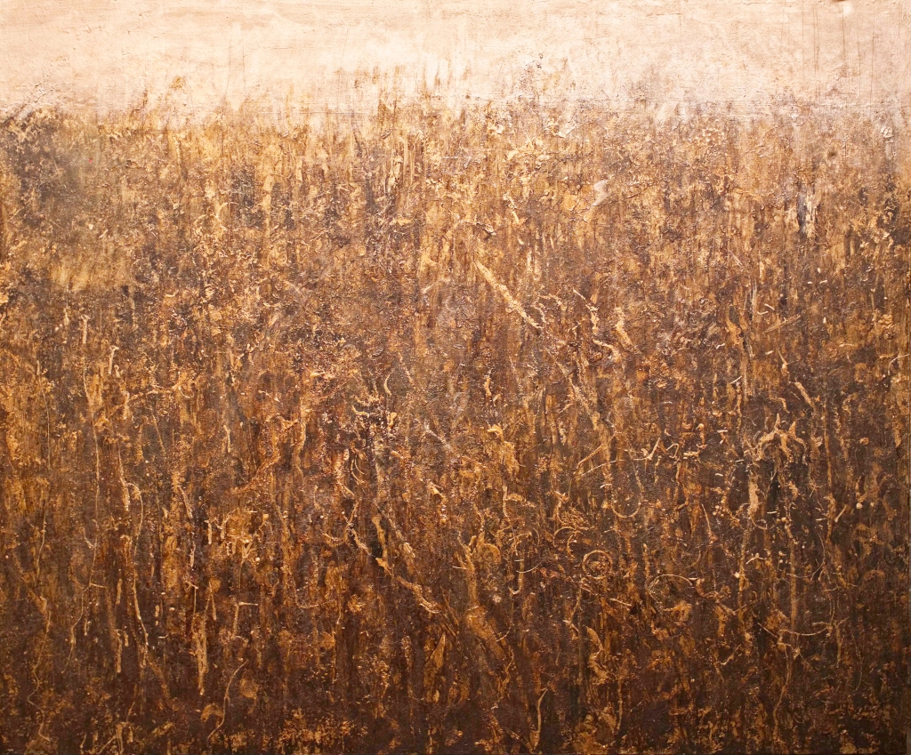 Wheat Field, painting on canvas 100 x 120 cm