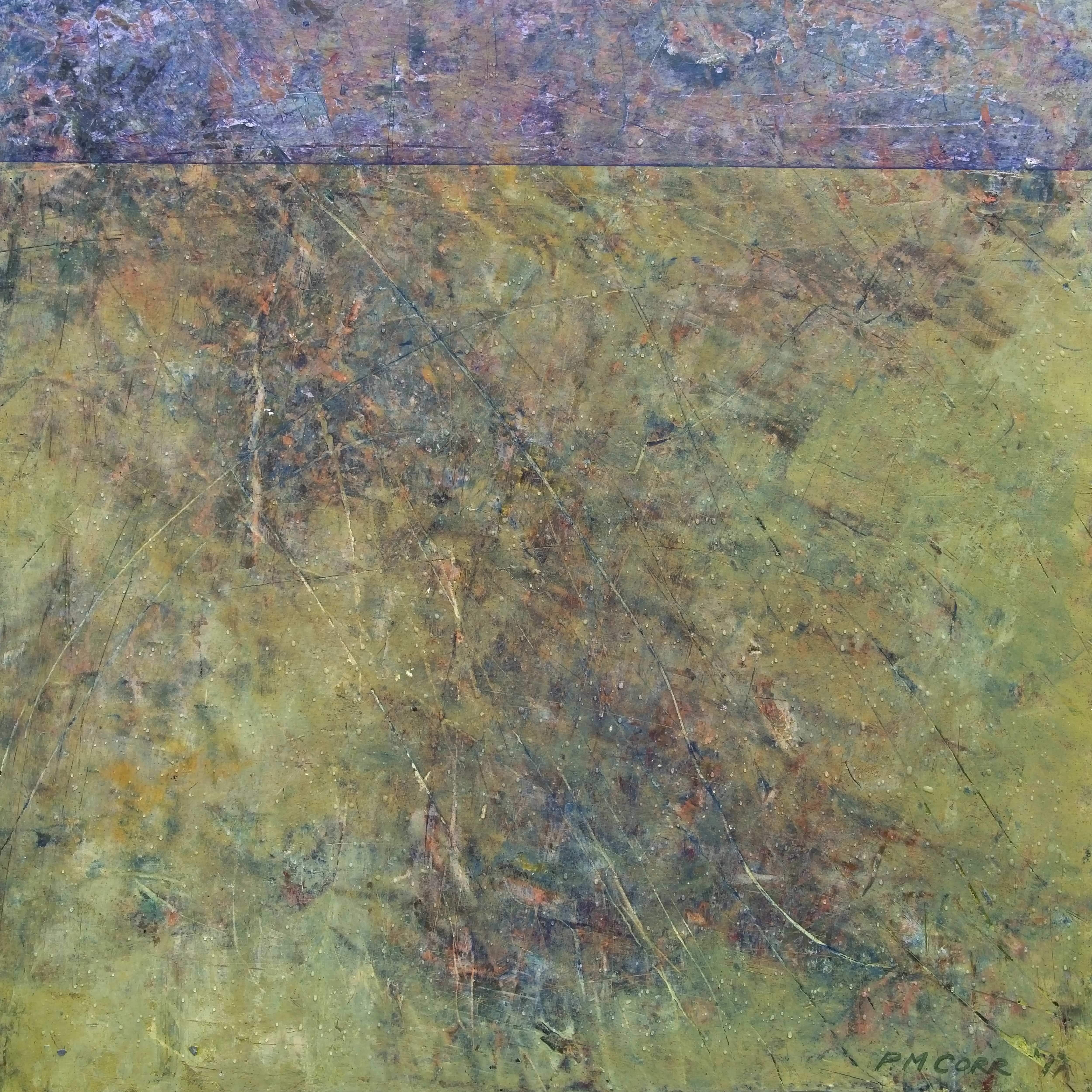 Westmoor Abstract Painting on Wood by Peter Corr