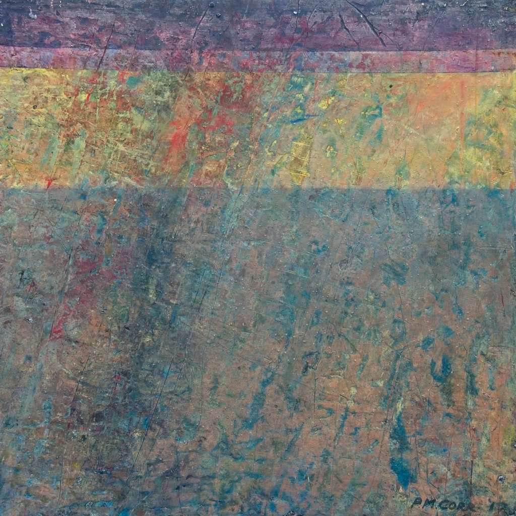 Coveney Fen Abstract Painting on Wood by Peter Corr