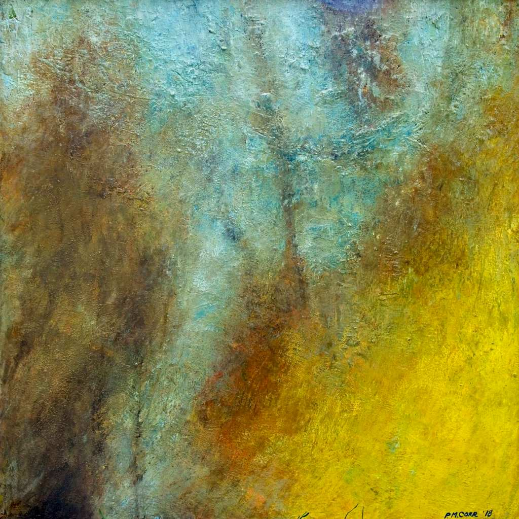 Iron Spring Abstract Painting on Canvas by Peter Corr